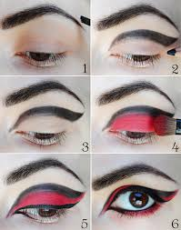 easy red and black eye makeup mugeek vidalondon