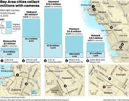 San Francisco Traffic Map by Red Light Cameras Boost Coffers Rile Drivers Sfgate