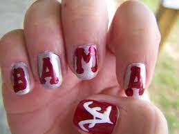 nail art alabama nail art crimson tide lettersalabama football