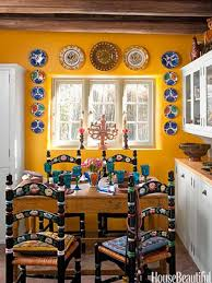 Mexican Themed Home Decor | a kitchen with santa fe style mexicans inspiration and decor styles