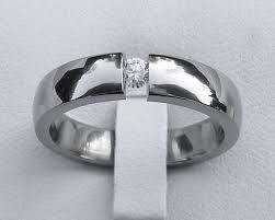 tension ring tension set diamond titanium engagement ring love2have uk