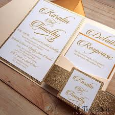 gold wedding invitations diy gold glitter wedding invitations gold 2570387 weddbook