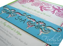 wedding invitations durban destination wedding invitation in lime cerise turquoise