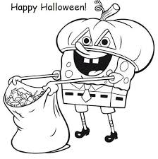 family fun spongebob halloween coloring pages happy halloween
