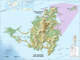 Sea Airport Map File Saint Martin Island Topographic Map En Svg Wikimedia Commons