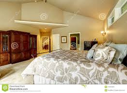 House With High Ceilings Luxury House Interior Bedroom With High Vaulted Ceiling A Stock