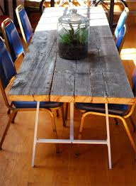 Reclaimed Wood Dining Room Furniture How To Build A Reclaimed Wood Dining Table Apartment Therapy