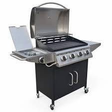 barbecue au gaz albert cuisine extérieure 4 brûleurs feu latéral