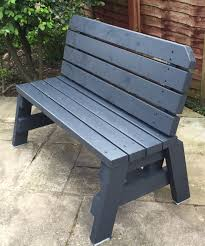 Pallet Patio Furniture Pinterest by Stained 2x4 Bench