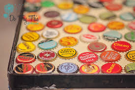 beer cap table top beer bottle cap table a how not to guide do try this at home