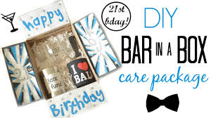 birthday care package diy 21st birthday care package bar in a box daiso project