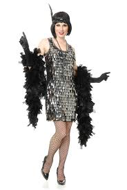 silver crystal teardrop flapper womens costume by charades