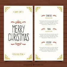 pretty and elegant christmas menu template vector free download