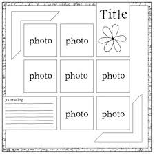 templates for scrapbooking best 25 scrapbook templates ideas on simple