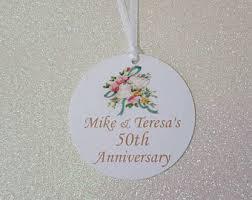 50th wedding anniversary christmas ornament anniversary tags etsy