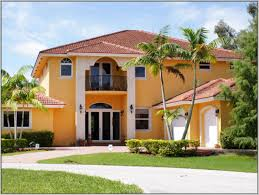 orange wall exterior paint color combinations for homes with white