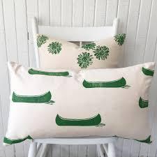 Home Decor Throw Pillows by Organic Canvas Pillow Cover Lumbar Pillow Oblong Pillow Green
