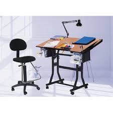 Drafting Table And Chair Set Steel Tilt Drafting Table Wayfair
