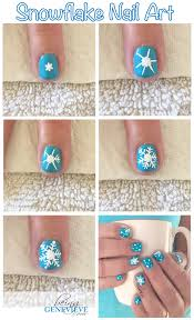 let it snow snowflake nail art snowflake nails and winter nails