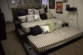 The Movie Pit Sofa by Pallet Theater Seating Theater Room Stadium Seating Using