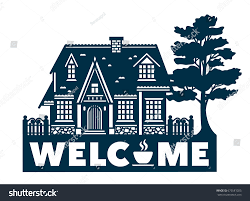 welcome sign laser cutting wood metal stock vector 675581023