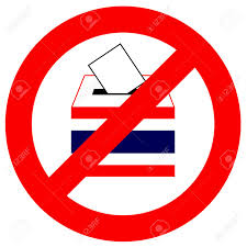 Thai Flag Prohibition Traffic Sign No Vote In Thailand With Thai Flag