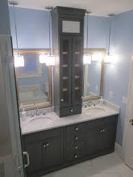 Built In Bathroom Vanity Awesome Custom Bathroom Vanity Cabinets And Dark Custom Hardwood