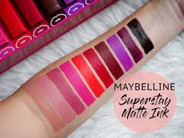 Maybelline Superstay Matte Ink maybelline superstay matte ink review swatches chiam
