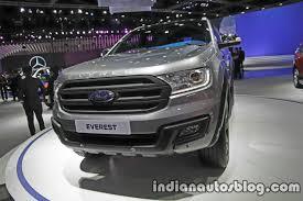 Ford Everest Facelift Ford Endeavour Motoroids