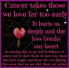 Lost Loved Ones To Cancer In Memory Of My Who Lost Battle To Lung Cancer May 10 2007