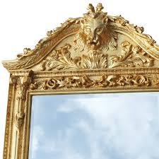 luxurious golden wall mirror baroque design home décor luxury pure