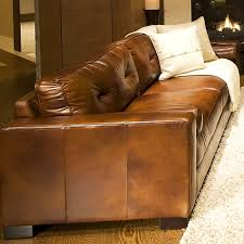 Oversized Leather Sofa Soho 3 Rustic Brown Leather Sofa Set W Oversized Chairs