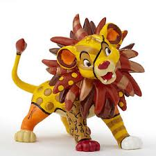 disney romero britto mini figurine lion king simba ebay