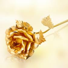 golden roses creative s day birthday wedding gift 24k golden