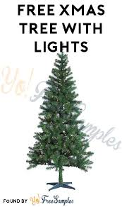today only free tree with lights after in store up
