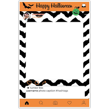halloween selfie frame photo booth prop poster paper blast
