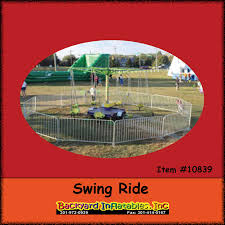 carnival rides swings backyard inflatables