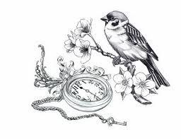 bird pocket watch tattoo 5379641 top tattoos ideas