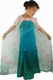 Girls Size 5 Halloween Costumes Frozen Fever Elsa Cosplay Costume Snow Queen Summer Dress