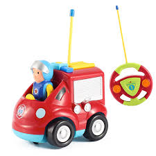 amazon com cartoon r c fire truck toys for toddlers radio