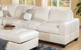 bonded leather modern sectional sofa w storage ottoman