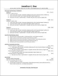Best Resume Order by Chronological Resume Format 2016 Chronological Resume Examples