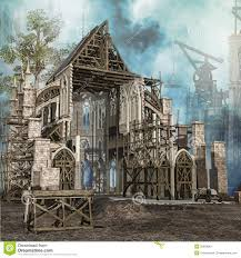 Medieval Cathedral Floor Plan Medieval Cathedral In Construction Stock Image Image 35638061