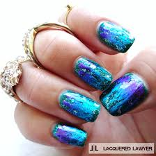 lacquered lawyer nail art blog foil fantasy