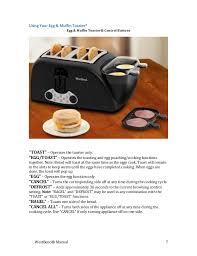 Kombi Toaster Westbend Manual