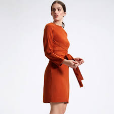 orange dress self tie dress buy self tie dresses online burnt orange