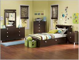 Single Bedroom Furniture Kids Room Beautiful Blue Yellow Wood Glass Luxury Design