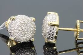 diamond stud earrings for men women with dual price benefits
