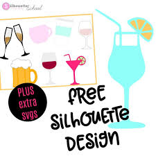 free silhouette images free silhouette design cocktail and free set of commercial use