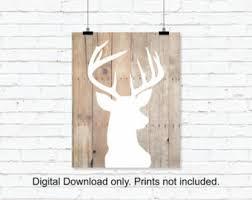 deer wood wall instant deer silhouette deer wooden